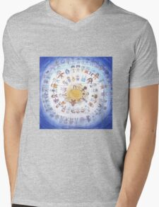 "Puzzle painting ""Round dance"" Mens V-Neck T-Shirt"