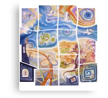 "Puzzle painting ""Lost"" Canvas Print"