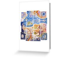 """Puzzle painting """"Lost"""" Greeting Card"""