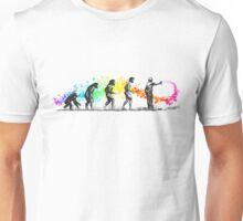 Street Art Rainbow Evolution Unisex T-Shirt