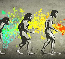 Street Art Rainbow Evolution by artNagual