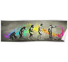 Street Art Rainbow Evolution Poster