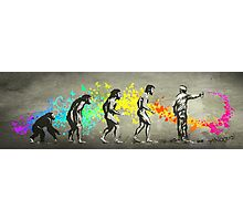 Street Art Rainbow Evolution Photographic Print