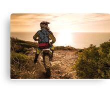 Enduro bike rider Canvas Print