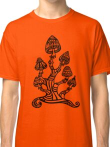 Magic mushrooms, Plants of the Gods, psychedelic, Trance Goa Psy  Classic T-Shirt