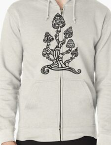 Magic mushrooms, Plants of the Gods, psychedelic, Trance Goa Psy  Zipped Hoodie