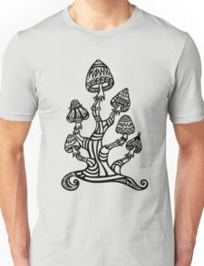 Magic mushrooms, Plants of the Gods, psychedelic, Trance Goa Psy  Unisex T-Shirt