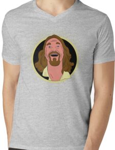 The Dude Cartoon Mens V-Neck T-Shirt