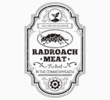 Drumlin Diner Radroach Meat (Black) One Piece - Short Sleeve