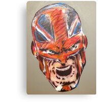 Alan Davis' Captain Britain, colour Canvas Print