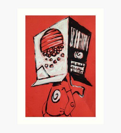 Cereal Box Boy Art Print