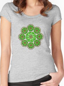 Peyote Cactus, psychedelic, Plant of the gods Women's Fitted Scoop T-Shirt