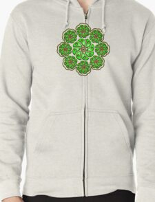 Peyote Cactus, psychedelic, Plant of the gods Zipped Hoodie
