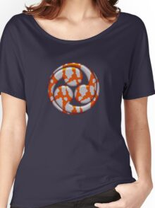 Mitsu Tomoe -  Japan - Shinto Trinity Symbol - Triskele Women's Relaxed Fit T-Shirt