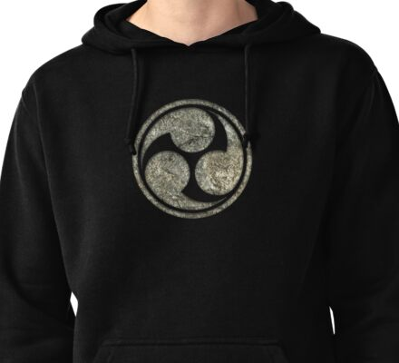 Shinto Trinity Japan, Symbol Mitsu Tomoe, Triskelion Pullover Hoodie