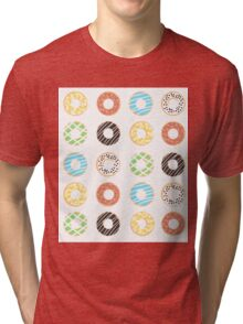 Donut Print Tri-blend T-Shirt