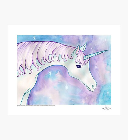 Bob is a Unicorn Photographic Print