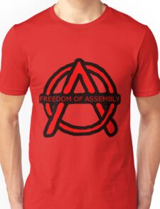 Freedom of Assembly Anarchy Unisex T-Shirt