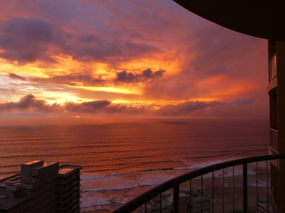 Sunrise at Surfers Paradise by PhotosByG