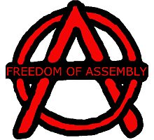 Freedom of Assembly Anarchy Photographic Print
