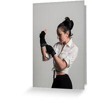 Cute female boxer Greeting Card