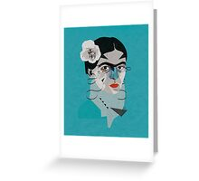 Frida Blue Greeting Card