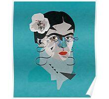 Frida Blue Poster