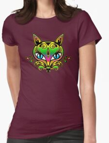 Blue eyes fox with ornaments T-Shirt