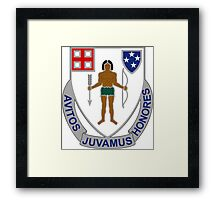 182nd Infantry Regiment - Avitos Juvamus Honores - We Uphold Our Ancient Honors Framed Print