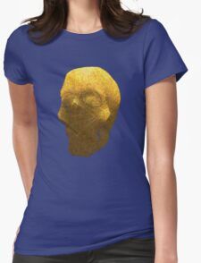 human skull Womens Fitted T-Shirt