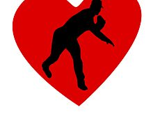Baseball Pitcher Heart by kwg2200