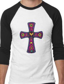 Christian Cross Symbol Men's Baseball ¾ T-Shirt
