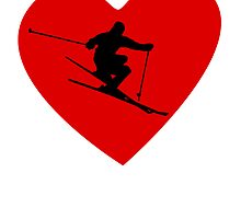 Skiing Heart by kwg2200