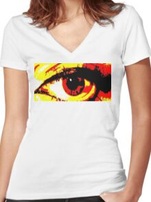 Present Vision Women's Fitted V-Neck T-Shirt