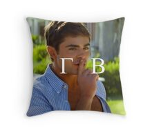 Zac Efron Gamma Phi Beta (letters only) Throw Pillow