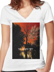 The Sacred Tree Women's Fitted V-Neck T-Shirt