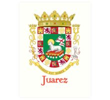 Juarez Shield of Puerto Rico Art Print