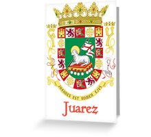 Juarez Shield of Puerto Rico Greeting Card