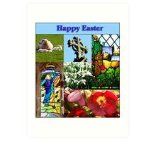 Happy Easter Collage  Art Print