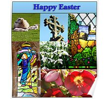 Happy Easter Collage  Poster