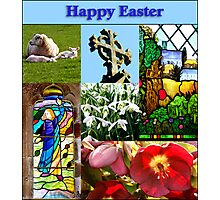 Happy Easter Collage  Photographic Print