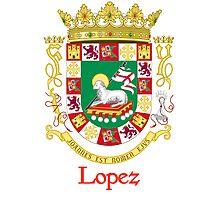 Lopez Shield of Puerto Rico Photographic Print