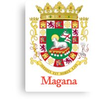 Magana Shield of Puerto Rico Canvas Print