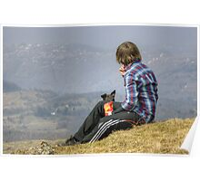 A Boy With A View And A Dog With A Hope Poster