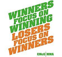 Conor McGregor - Quotes [Winners Tri] Photographic Print