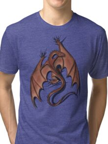 Smaug on your shirt! Tri-blend T-Shirt