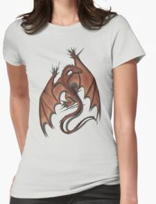 Smaug on your shirt! Womens Fitted T-Shirt