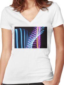 Light Painting Women's Fitted V-Neck T-Shirt