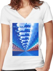 INFINITY LANDSCAPE Women's Fitted V-Neck T-Shirt