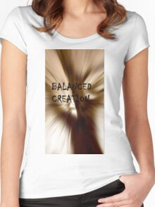 Balanced Creation Women's Fitted Scoop T-Shirt